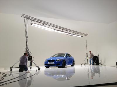 Studio 1: James Day shooting BMW ad campaign
