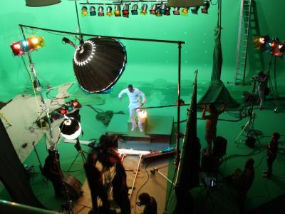 Studio 3: Luti Media shooting JLS promo on green screen
