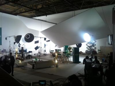 Studio A: Partizan shooting Activia commercial with Gok Wan