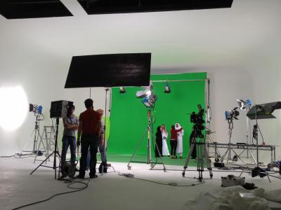 Studio 1: Squint Opera shooting on green screen